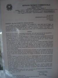 Pannello che ritrae la petizione, al Presidente della Repubblica, del Comitato Pro Sabbetta per l'ottenimento del riconoscimento delle gesta tributandolo a tutti i protagonisti della vicenda di Tor Mancina.