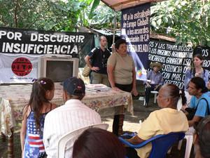La Carovana incontra gli ex lavoratori della canna da zucchero ammalati di IRC (Foto G. Trucchi)