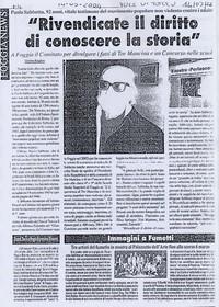 """Articolo del giornale """"Voce di Popolo"""""""