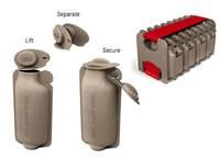 Bottiglie di carta riciclata