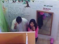 Una fotografia scattata alla mostra