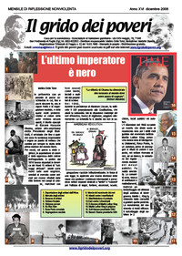 IL GRIDO DEI POVERI (mensile di riflessione nonviolenta) dicembre 2008