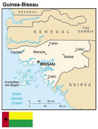 Mappa della Guinea-Bissau