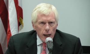 L'ambasciatore Robert Callahan durante la conferenza stampa (© Foto G. Trucchi)