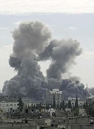 Bombardamento israeliano a Gaza