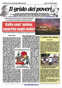 IL GRIDO DEI POVERI (mensile di riflessione nonviolenta) gennaio 2009
