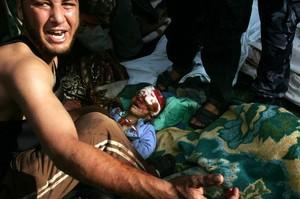 Vittime palestinesi a Gaza