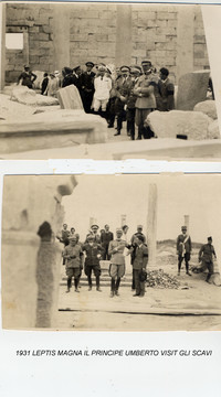 Leptis Magna 1931. Il Principe Umberto agli scavi (2° la febbre dell'avventura)