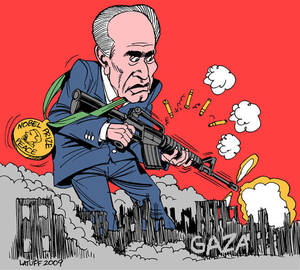 Carlos Latuff on the Nobel Laureate Shimon Peres