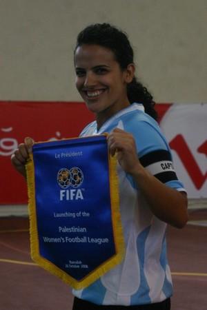Samar Araj, calciatrice palestinese.