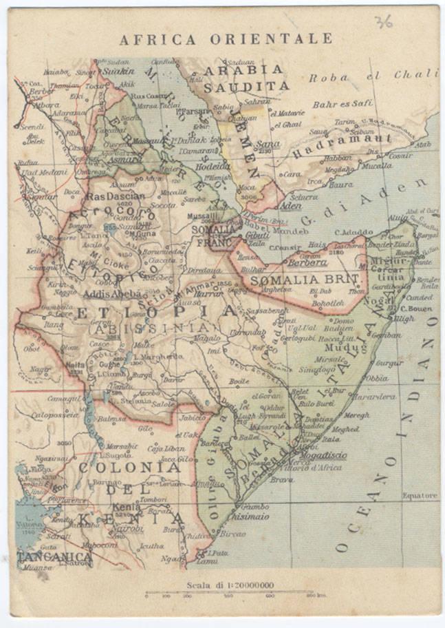 Cartina Dell Africa Orientale.Cartina Africa Orientale Dell Epoca 3 Alla Conquista Dell