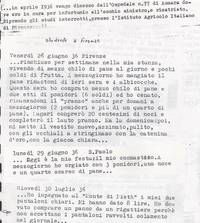 Diario. Sabbetta studente presso l'Istituto Agricolo Coloniale di Firenze (4° Fra due fuochi)