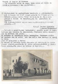 Diario . Sabbetta si diploma e subito  viene assunto dall'Entecol (Ente per la colonizzazione della Libia) destinazione Cirenaica (4° Fra due fuochi)