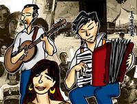 Musicisti rom - disegno di Mauro Biani