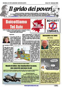 IL GRIDO DEI POVERI (mensile di informazione e riflessione nonviolenta) febbraio 2009