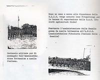 Diario. Passaggio consegna dall'Amministrazione britannica a quella fiduciaria italiana. Sabbetta viene assunto dalla S.A.G (6° Eccidio di Chisimaio)