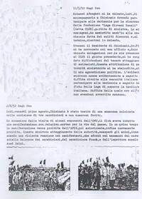 Diario. Sabbetta narra la vicenda dell'eccidio di Chisimaio (6° eccidio di Chisimaio)