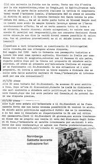 Diario Sabbetta emigra in Germania, poi in Grecia e in Egitto  ma il suo calvario è appena iniziato (8° Asilo politico)