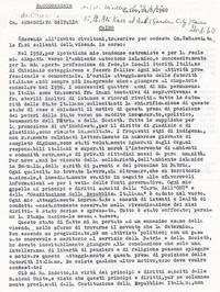 Lettera descrittiva dei fatti all'Ambasciata italiana pg. 1 (8° Asilo Politico)