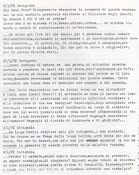 Diario Sabbetta dubbioso ed impotente si pone innumerevoli interrogativi (9° Esilio in patria)