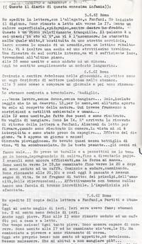 Diario Sabbetta protesta digiunando ( 10° Il Manicomio facile)