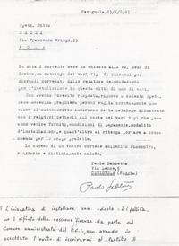 Lettera alla Saxei di Roma - Sabbetta tenta instacabilmente di trovare un'attività da svolgere ( 10° Il Manicomio facile)