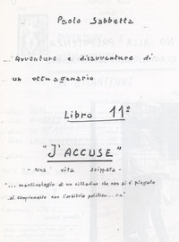 "Frontespizio Memoriale ""J'accuse"""