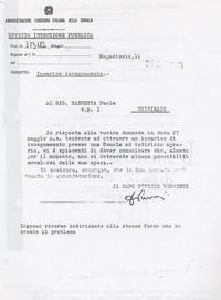 Lettera Afis (Mogadiscio)  in risposta alla richiesta di lavoro avanzata da Sabbetta impotente di fronte al tentativo di creare autonomamente una attività economica (12° Condanna a vita senza processo)