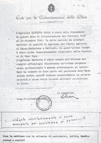Referenze rilasciate a Sabbetta dall'Entecol (12° Condanna a vita senza processo)