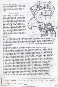 Censura sulla vicenda storica di Tormancina (12° Condanna a vita senza processo)