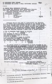 Esposti alle istituzioni italiane (12° Condanna a vita senza processo)