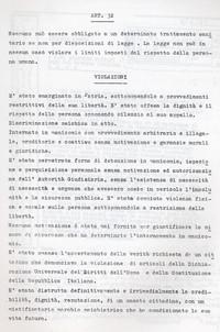 Diario Commenti sulla violazione della Costituzione e della Dichiarazione Universale dei diritti dell'uomo (12° Condanna a vita senza processo)