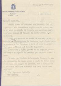 Comunicazione dei salvacondotti ottenuti per salvaguardare la Tenuta (14° IO & Maymone)