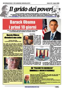 IL GRIDO DEI POVERI (mensile di informazione e riflessione nonviolenta) marzo 2009