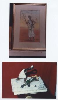Quadro e statua realizzati da Paolo Sabbetta  (13°Usi e costumi nella Somalia del 1900)