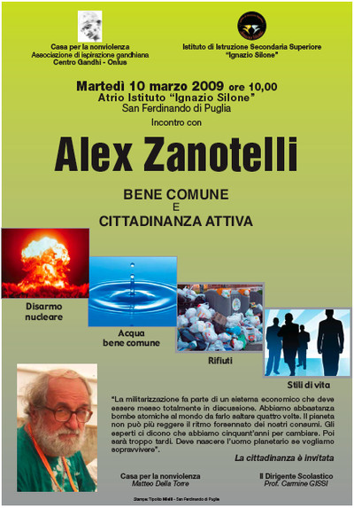 Manifesto Conferenza Alex Zanotelli