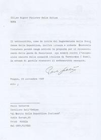 Lettera di Sabbetta al Ministero della Difesa  per l'ottenimento di un riconoscimento relativo alle gesta della Comunità di Tormancina (Obiettivi da raggiungere)