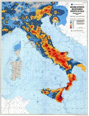 La mappa del rischio sismico