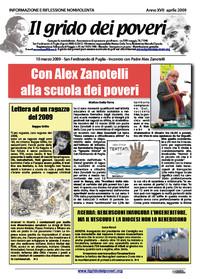 IL GRIDO DEI POVERI (mensile di informazione e riflessione nonviolenta) aprile 2009