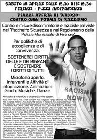 Il volantino chre annuncia la manifestazione del 18 aprile 2009 a Firenze