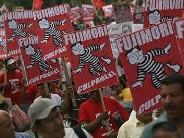 Fujimori culpable - Manifestazione di protesta
