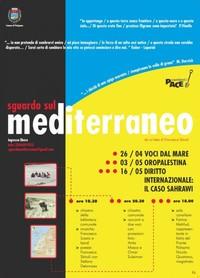 """LOCANDINA """"SGUARDO DAL MEDITERRANEO"""" -PUTIGNANO BARI APRILE-MAGGIO 2009"""