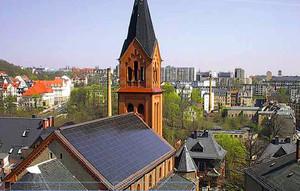 Impianto fotovoltaico della Chiesa Cattolica di Blauen (Germania).