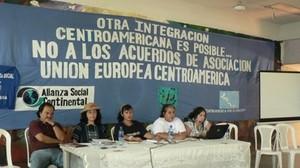 Movimenti sociali e reti riunite a Managua (Foto G. Trucchi)