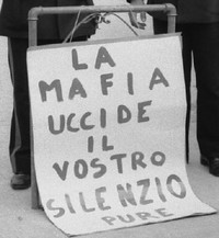 Un cartello antimafia