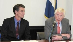 L'ambasciatore Robert J. Callahan durante la conferenza stampa © (Foto G. Trucchi)