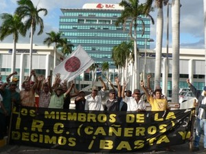 ANAIRC davanti all'Edificio Pellas a Managua (Foto G. Trucchi)