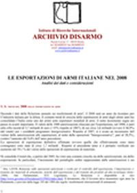 L'export militare italiano nel 2008
