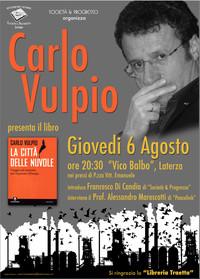 """PeaceLink a Laterza per la presentazione del libro """"La città delle nuvole"""" di Carlo Vulpio"""
