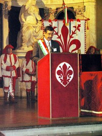"""A Palazzo Vecchio. Summit dei Sindaci """"Le città non sono bersagli"""", 23 novembre 2007"""